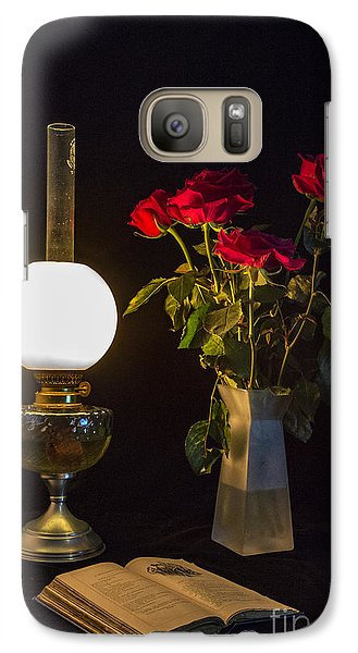 Galaxy Case featuring the photograph Reading By Oil Lamp by Brian Roscorla