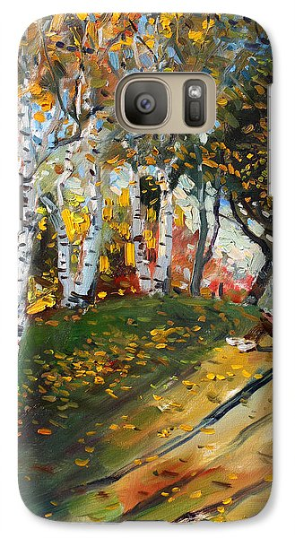 Reading In The Park  Galaxy Case by Ylli Haruni