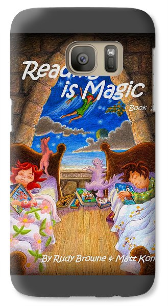 Galaxy Case featuring the painting Reading Is Magic by Matt Konar