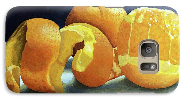 Galaxy Case featuring the painting Ready For Oranges by Linda Apple