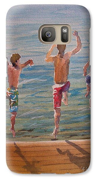 Galaxy Case featuring the painting Ready Set Go by Sandra Strohschein