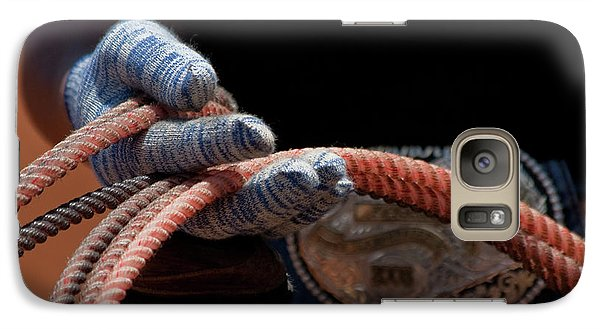 Galaxy Case featuring the photograph Ready To Rope by Roger Mullenhour
