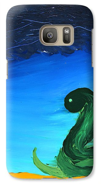 Galaxy Case featuring the painting Ready To Strike by Lola Connelly