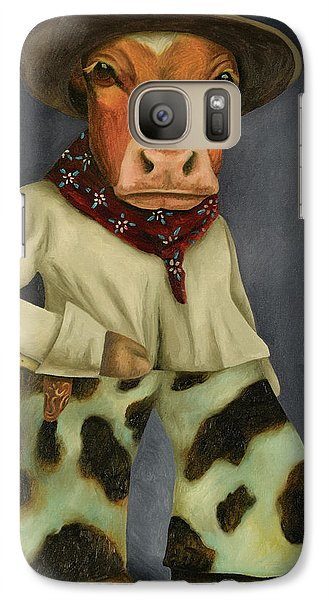 Galaxy Case featuring the painting Real Cowboy 2 by Leah Saulnier The Painting Maniac