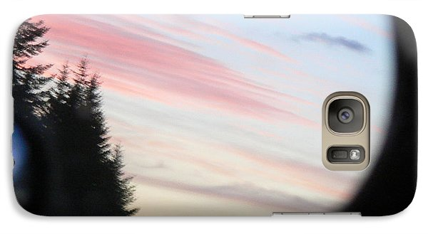 Galaxy Case featuring the photograph Rear View Sunset Sky by Pamela Patch