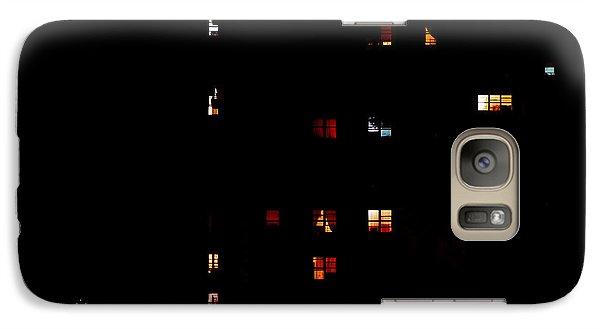 Rear Windows Galaxy S7 Case by Rona Black