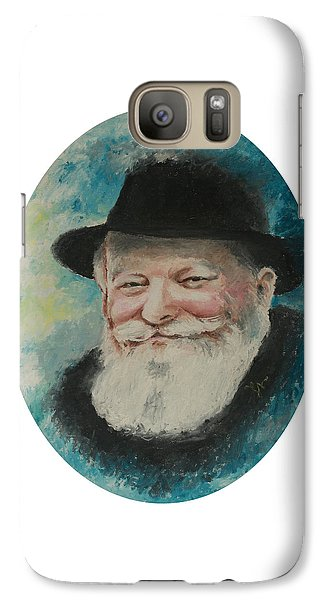Galaxy Case featuring the painting Rebbe Smiling by Miriam Leah
