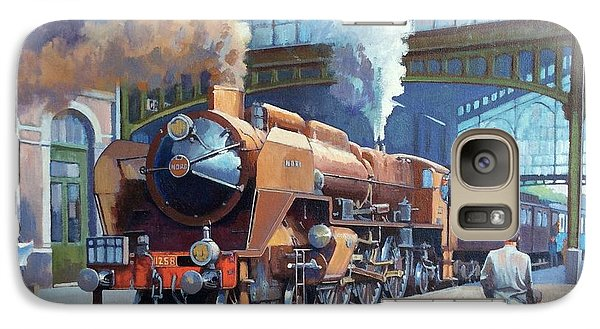 Galaxy Case featuring the painting Rebuilt Chapelon Pacific At Calais. by Mike  Jeffries