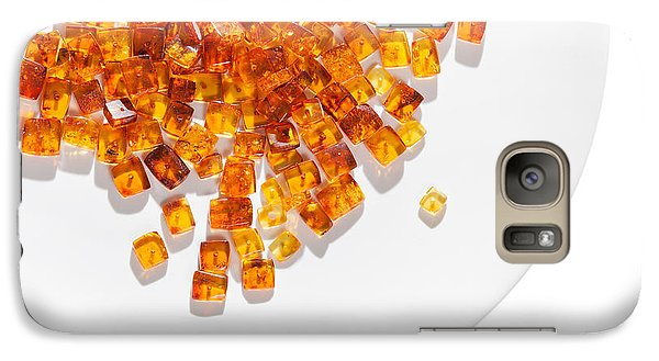 Galaxy Case featuring the photograph Rectangular Stones Yellow Amber  by Andrey  Godyaykin