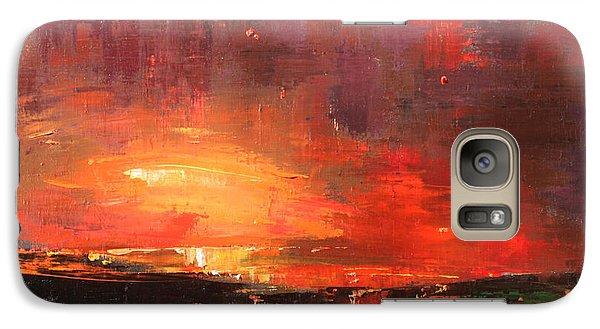 Galaxy Case featuring the painting Red by Anastasija Kraineva