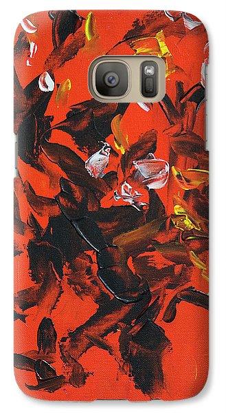 Red And Black Galaxy S7 Case by Yulia Kazansky