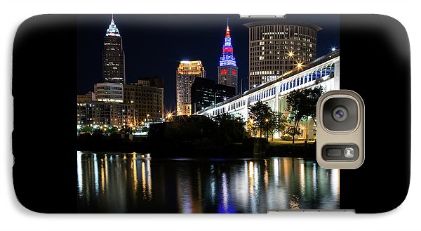 Galaxy Case featuring the photograph Red And Blue In Cleveland by Dale Kincaid