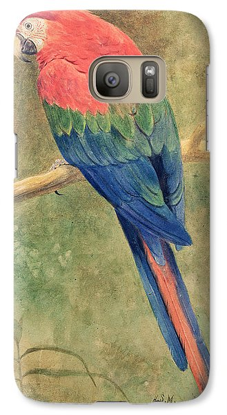 Red And Blue Macaw Galaxy S7 Case