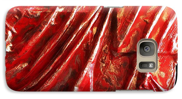 Galaxy Case featuring the mixed media Red And Gold Shapes by Angela Stout