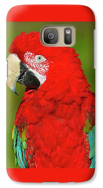 Galaxy Case featuring the photograph Red And Green by Tony Beck