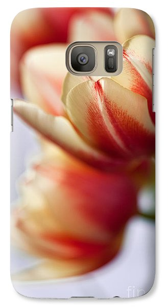 Tulip Galaxy S7 Case - Red And White Tulips by Nailia Schwarz