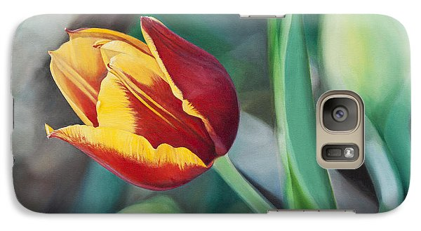 Galaxy Case featuring the painting Red And Yellow Tulip by Joshua Martin