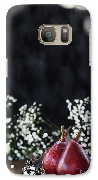 Galaxy Case featuring the photograph Red Anjou Pears by Stephanie Frey