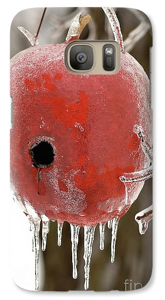 Galaxy Case featuring the photograph Red Apple Birdhouse by Michael Flood