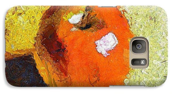 Galaxy Case featuring the painting Red Apple by Dragica  Micki Fortuna