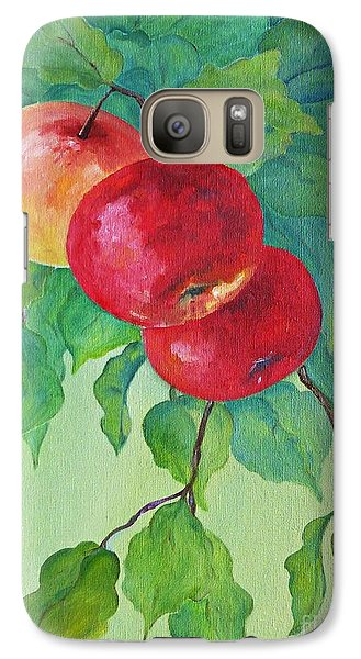 Galaxy Case featuring the painting Red Apples by AmaS Art