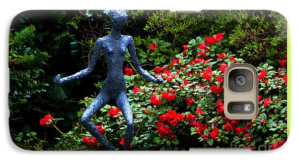 Galaxy Case featuring the photograph Red Azalea Lady by Susanne Van Hulst