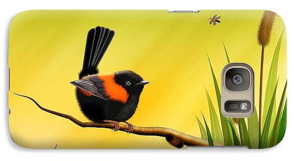 Galaxy Case featuring the digital art Red Backed Fairy Wren by John Wills