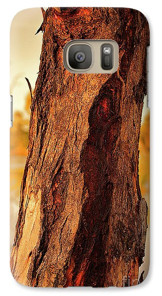 Galaxy Case featuring the photograph Red Bark by Douglas Barnard