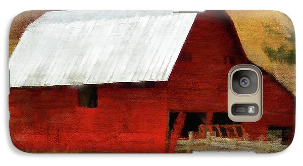 Galaxy Case featuring the digital art Red Barn by Jim  Hatch