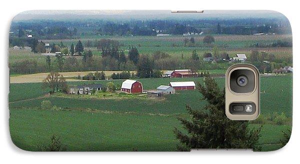 Galaxy Case featuring the photograph Red Barn by Judyann Matthews