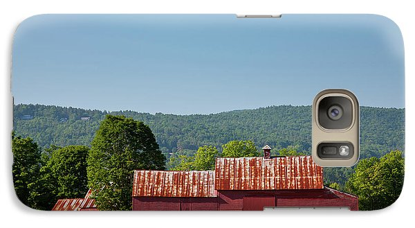 Galaxy Case featuring the photograph Red Barn Near Quechee by Susan Cole Kelly