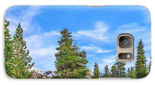 Yosemite National Park Galaxy S7 Case - Red Barn On A Hill by Az Jackson