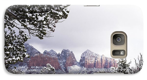 Galaxy Case featuring the photograph Red Beats White by Laura Pratt