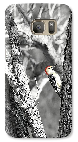 Galaxy Case featuring the photograph Red-bellied Woodpecker by Benanne Stiens