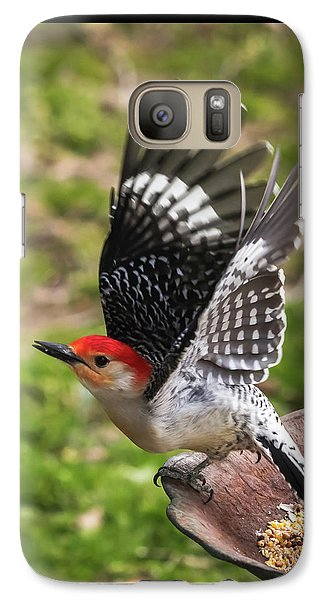 Galaxy Case featuring the photograph Red Bellied Woodpecker Take Off by Terry DeLuco