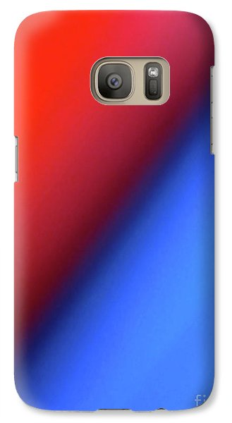 Galaxy Case featuring the photograph Red Blue by CML Brown