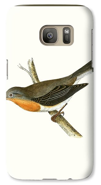 Red Breasted Flycatcher Galaxy Case by English School