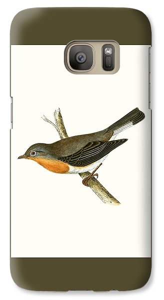 Flycatcher Galaxy S7 Case - Red Breasted Flycatcher by English School