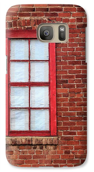 Galaxy Case featuring the photograph Red Brick And Window by James Eddy