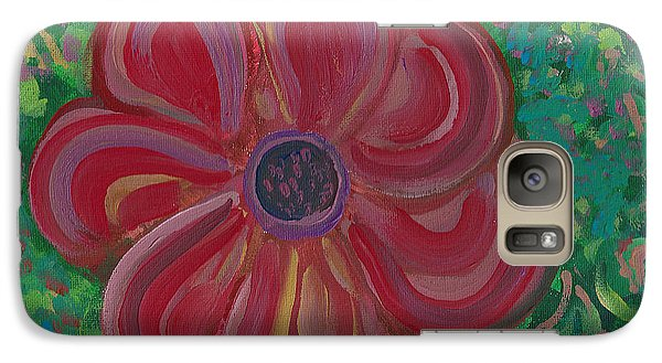 Galaxy Case featuring the painting Red Brilliance by John Keaton