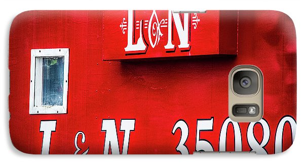 Galaxy Case featuring the photograph Red Caboose by Parker Cunningham