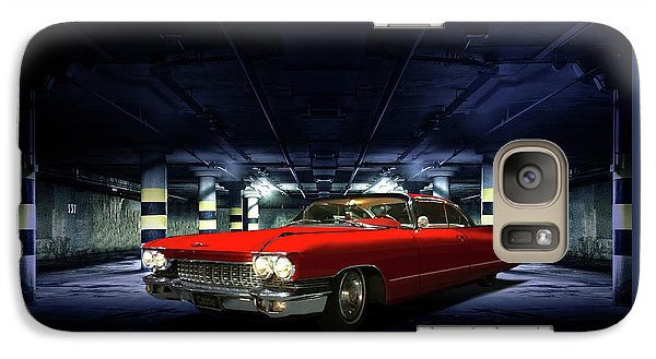 Galaxy Case featuring the photograph Red Caddie by Steven Agius
