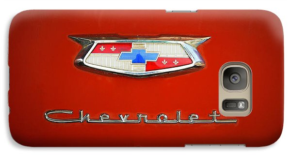 Galaxy Case featuring the photograph Red Chevy Bel-air Trunk by Marilyn Hunt