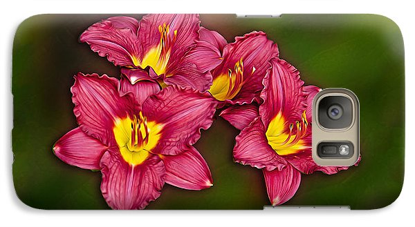 Galaxy Case featuring the photograph Red Columbine Hybrid by John Haldane