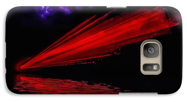 Galaxy Case featuring the photograph Red Comet by Naomi Burgess