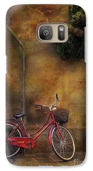 Galaxy Case featuring the photograph Red Crown Bicycle by Craig J Satterlee