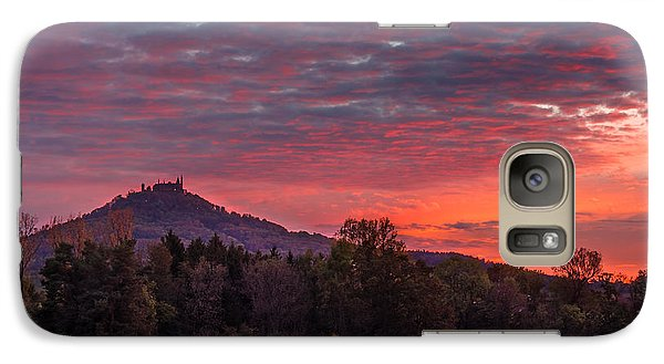 Galaxy Case featuring the photograph Red Dawn Over The Hohenzollern Castle by Dmytro Korol