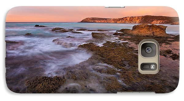 Kangaroo Galaxy S7 Case - Red Dawning by Mike  Dawson