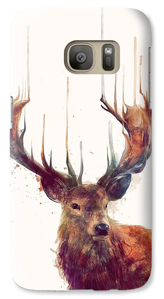 Red Deer Galaxy S7 Case by Amy Hamilton