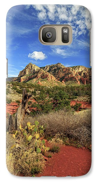 Galaxy Case featuring the photograph Red Dirt And Cactus In Sedona by James Eddy